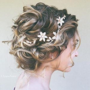 Esküvői frizura rövid hajból 2