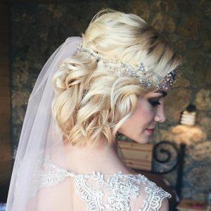 Esküvői frizura rövid hajból 4