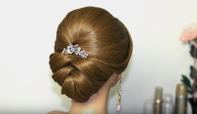 esküvői konty félhosszú hajból videó
