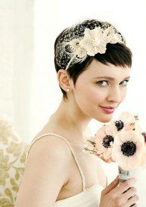 Esküvői frizura rövid hajból 5