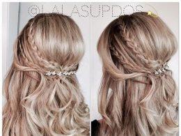esküvői hajak hosszú kiengedett hajból