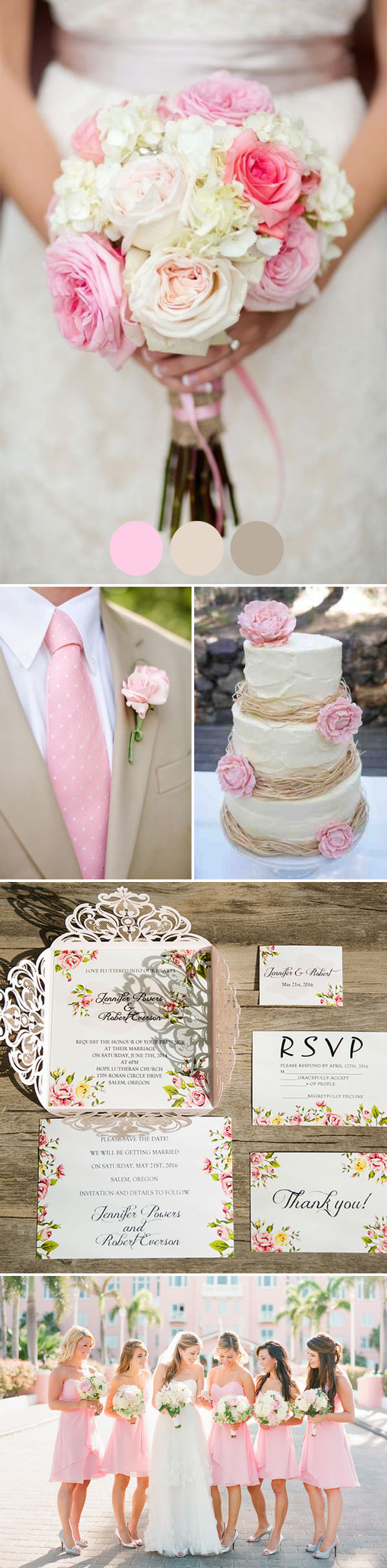 esküvői dekoráció színösszeállítás