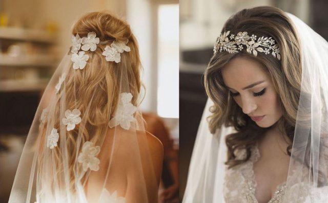 menyasszonyi frizura fátyollal