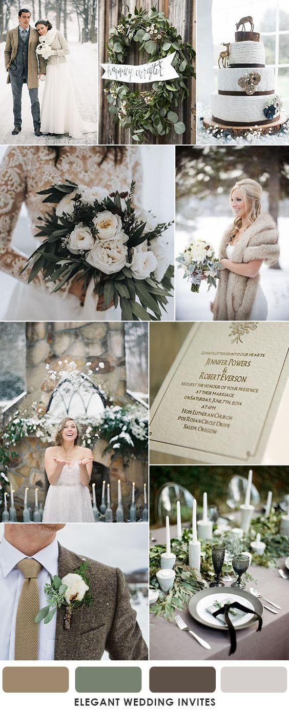 fehér téli esküvői dekoráció
