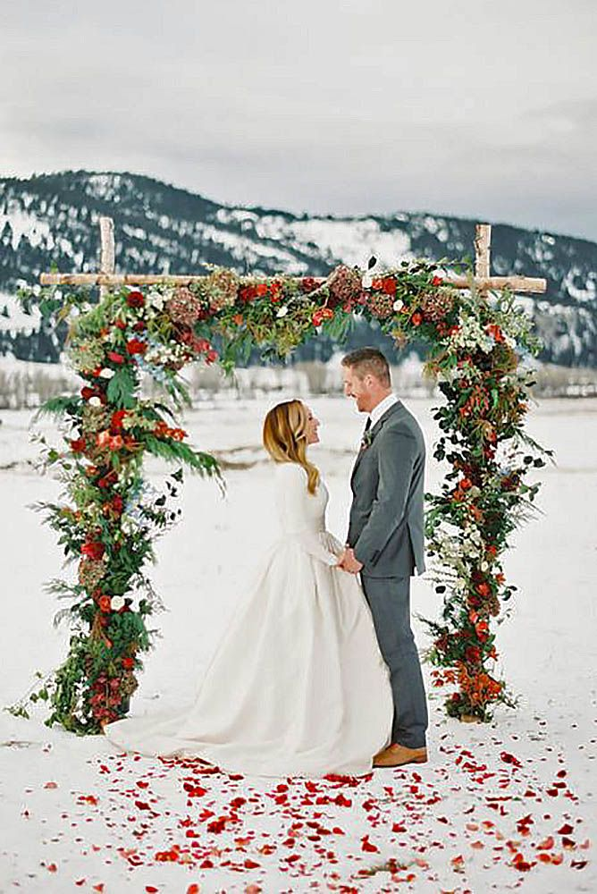 téli esküvői dekoráció szabadba