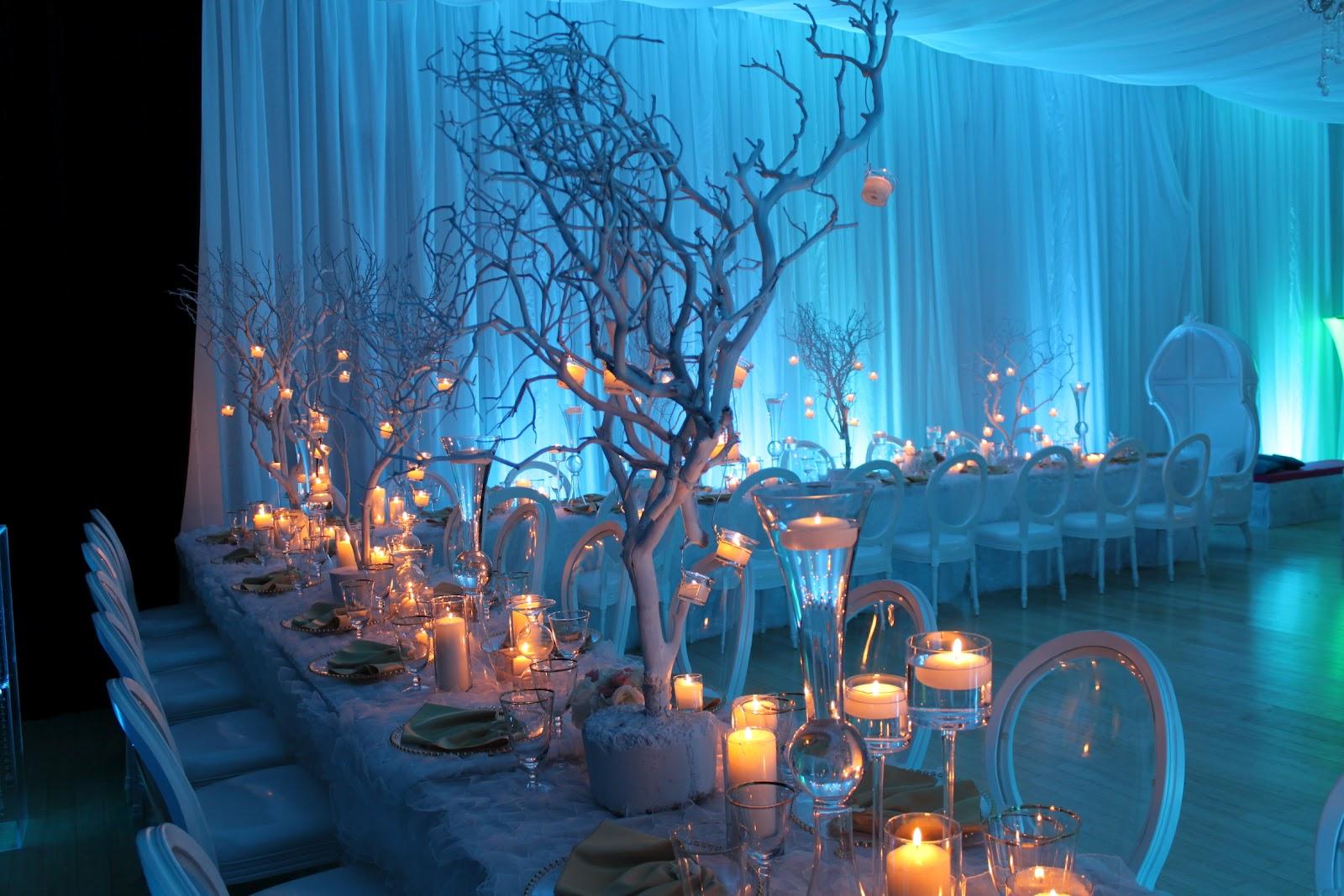 mesés téli esküvői dekoráció