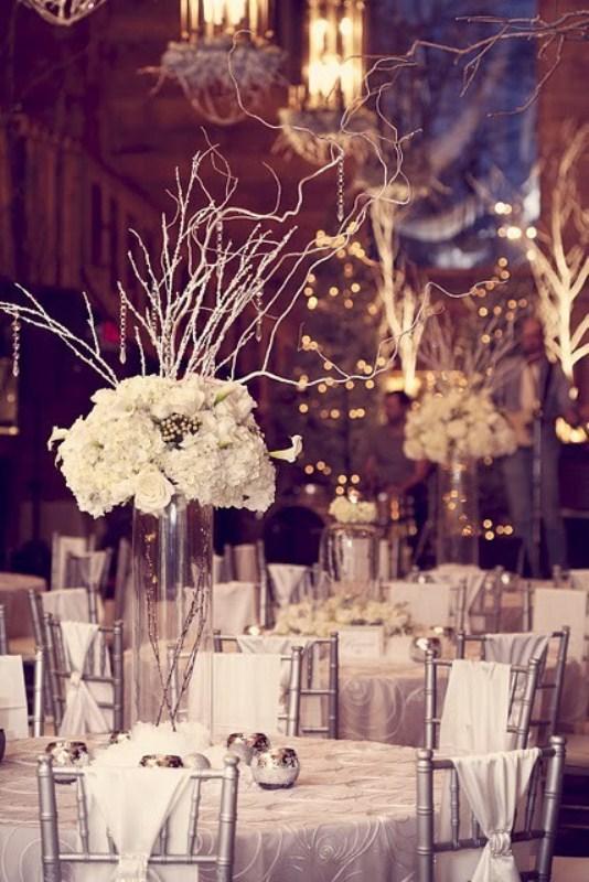 téli esküvői dekoráció