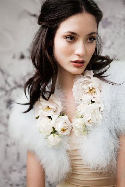 téli menyasszonyi smink