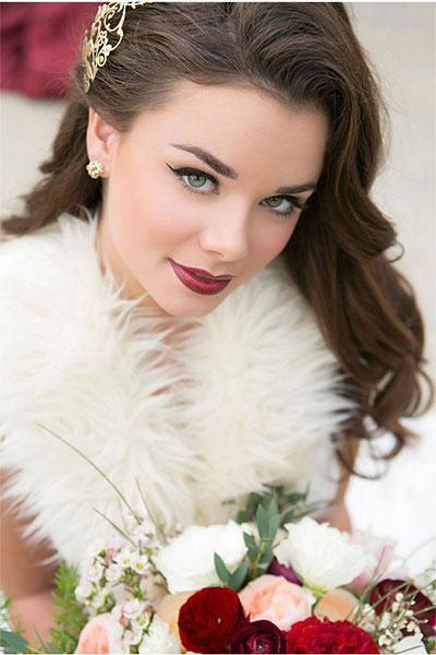 téli esküvői smink
